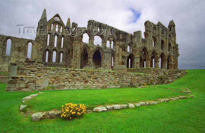 england517: Whitby North Yorkshire, England: ruins of Whitby Abbey - photo by D.Jackson - (c) Travel-Images.com - Stock Photography agency - Image Bank