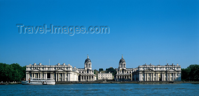england523: England - Greenwich, London - Royal Naval College - designed by Christopher Wren - UNESCO World Heritage Site - photo by A.Bartel - (c) Travel-Images.com - Stock Photography agency - Image Bank