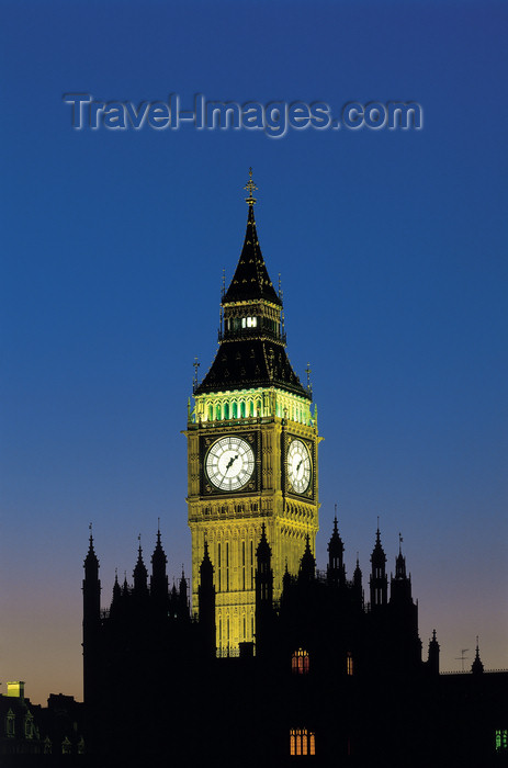 england524: England - London: Big Ben and parliament silhouette - nocturnal - photo by A.Bartel - (c) Travel-Images.com - Stock Photography agency - Image Bank