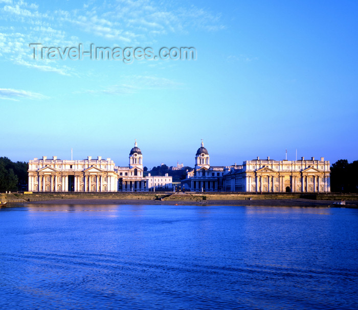 england526: England - Greenwich, London - Royal Naval College - and the Thames - Maritime Greenwich - UNESCO World Heritage Site - photo by A.Bartel - (c) Travel-Images.com - Stock Photography agency - Image Bank