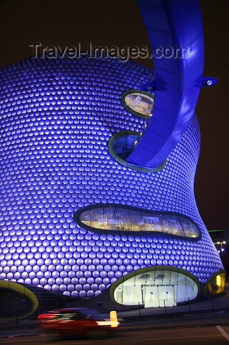 england539: Birmingham, West Midlands, England: Selfridges store at the Birmingham Bullring - designed by Future Systems - nocturnal - photo by J.Cave - (c) Travel-Images.com - Stock Photography agency - Image Bank