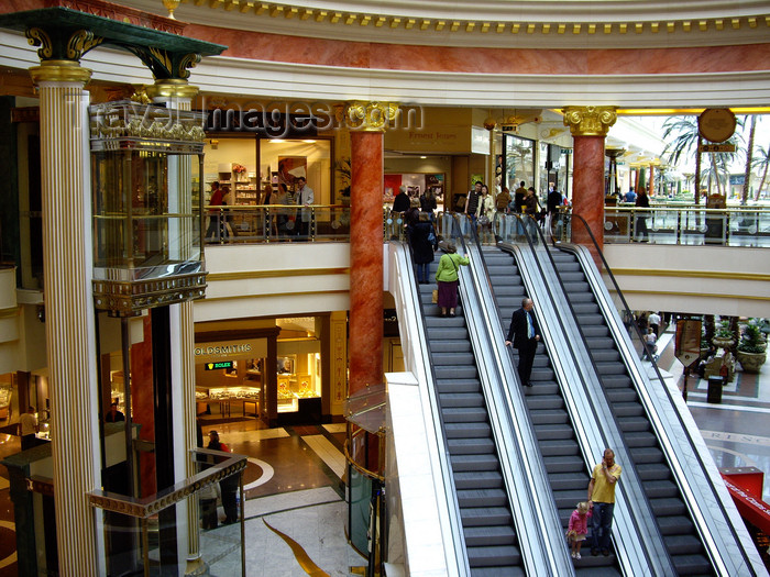 england546: Trafford, Greater Manchester, North West, England: escalators at the Trafford Centre - shopping centre - photo by T.Brown - (c) Travel-Images.com - Stock Photography agency - Image Bank