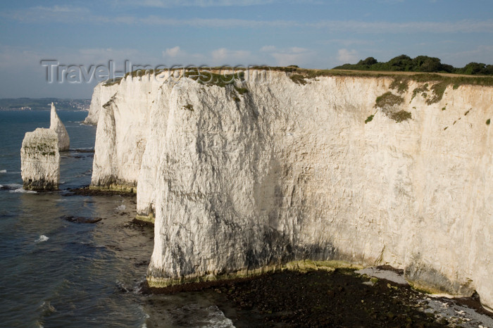 england549: Old Harry Rocks, Jurassic Coast, Dorset, England: white cliffs and the Pinnacles - UNESCO World Heritage Site - photo by I.Middleton - (c) Travel-Images.com - Stock Photography agency - Image Bank