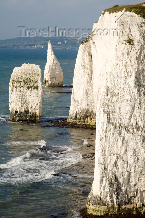 england551: Old Harry Rocks, Jurassic Coast, Dorset, England: vertical cliffs and the Pinnacles - Handfast Point - UNESCO World Heritage Site - photo by I.Middleton - (c) Travel-Images.com - Stock Photography agency - Image Bank