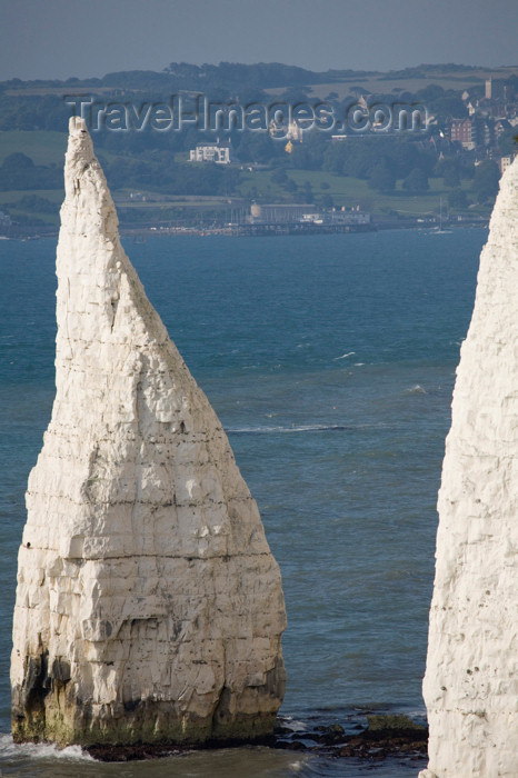 england557: Old Harry Rocks, Jurassic Coast, Dorset, England: The Pinnacles - conical chalk stack - UNESCO World Heritage Site - photo by I.Middleton - (c) Travel-Images.com - Stock Photography agency - Image Bank