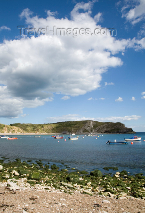england567: Lulworth Cove, Dorset, England: fishing boats - Jurassic Coast UNESCO World Heritage Site - photo by I.Middleton - (c) Travel-Images.com - Stock Photography agency - Image Bank