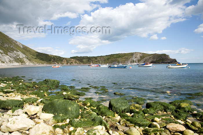england570: Lulworth Cove, Dorset, England: rocks - Jurassic Coast UNESCO World Heritage site - photo by I.Middleton - (c) Travel-Images.com - Stock Photography agency - Image Bank
