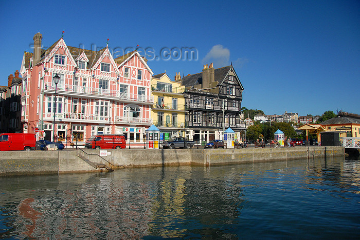 england582: Dartmouth, Devon, England: façades on the harbour front - photo by T.Marshall - (c) Travel-Images.com - Stock Photography agency - Image Bank