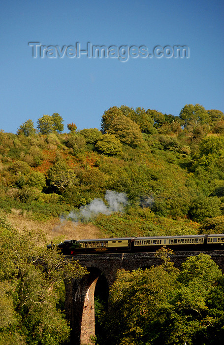 england584: Dartmouth, Devon, England: Dartmouth railway - train on a viaduct - photo by T.Marshall - (c) Travel-Images.com - Stock Photography agency - Image Bank