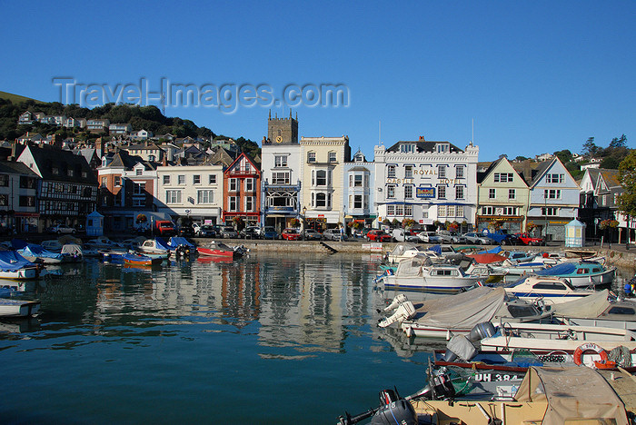 england587: Dartmouth, Devon, England: The Quay - Royal Castle Hotel - photo by T.Marshall - (c) Travel-Images.com - Stock Photography agency - Image Bank
