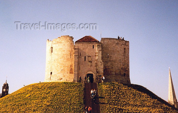 england6: York, North Yorkshire, England: 1190 Pogrom venue - Clifford's tower - photo by M.Torres - (c) Travel-Images.com - Stock Photography agency - Image Bank