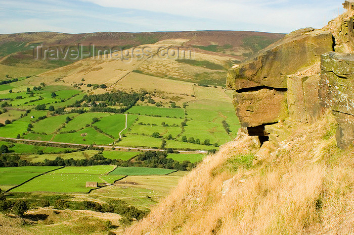 england606: Peak District, Derbyshire, England: rock and valley view - near Castleton - photo by I.Middleton - (c) Travel-Images.com - Stock Photography agency - Image Bank