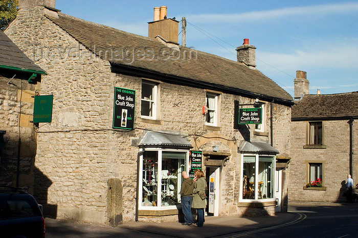 england612: Castleton, Peak District, Derbyshire, England: Blue John Craft shop - photo by I.Middleton - (c) Travel-Images.com - Stock Photography agency - Image Bank