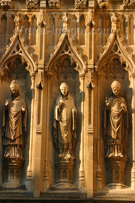 england627: Canterbury, Kent, South East England: Canterbury Cathedral - saints sculptures - photo by I.Middleton - (c) Travel-Images.com - Stock Photography agency - Image Bank
