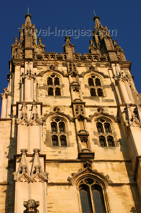 england629: Canterbury, Kent, South East England: Canterbury Cathedral - tower detail - photo by I.Middleton - (c) Travel-Images.com - Stock Photography agency - Image Bank