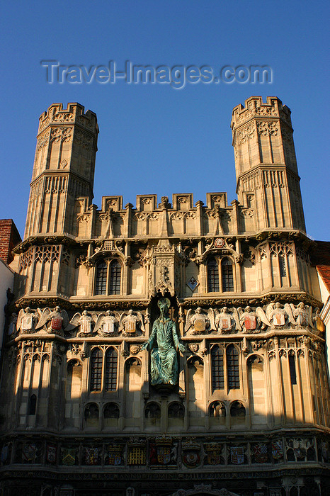 england630: Canterbury, Kent, South East England: Christchurch Gate, between the Cathedral and Butter Market - Burgate - bronze figure of Christ in the centre - photo by I.Middleton - (c) Travel-Images.com - Stock Photography agency - Image Bank