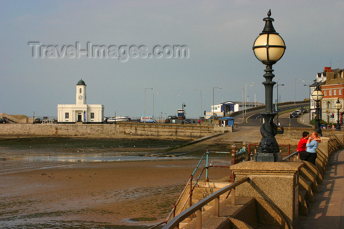 england631: Margate, Kent, South East England: Promenade, Margate Harbour and Droit House, a former customs building - Isle of Thanet - photo by I.Middleton - (c) Travel-Images.com - Stock Photography agency - Image Bank