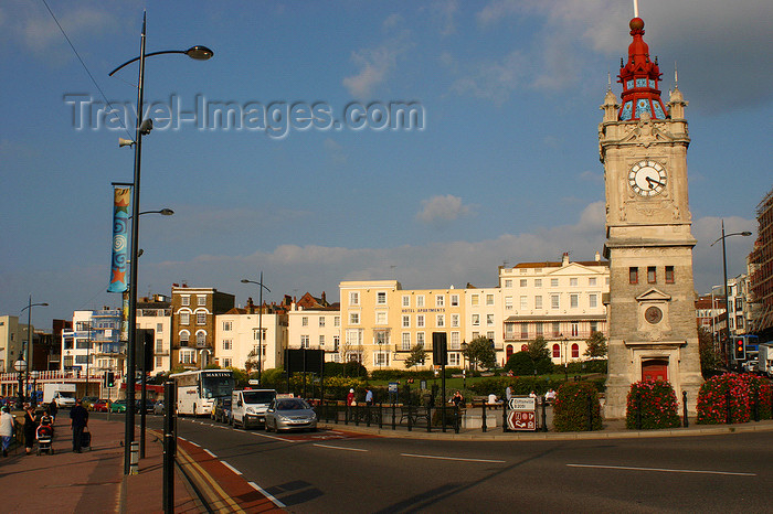 england633: Margate, Kent, South East England: Clock Tower on the seafront, erected in honour of Queen Victoria- photo by I.Middleton - (c) Travel-Images.com - Stock Photography agency - Image Bank