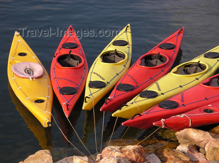 england644: Oxfordshire, South East England: canoes in the River Thames - photo by T.Marshall - (c) Travel-Images.com - Stock Photography agency - Image Bank