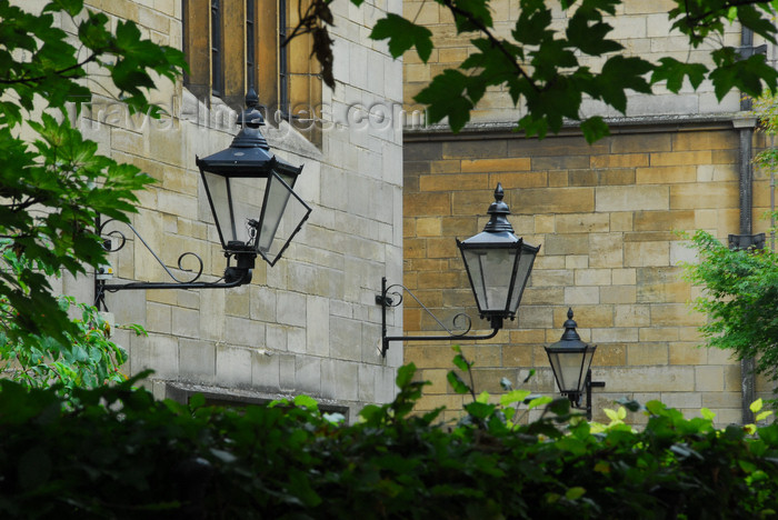 england647: Oxford, South East England: lanterns - photo by T.Marshall - (c) Travel-Images.com - Stock Photography agency - Image Bank