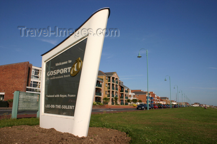 england655: Lee on Solent, Gosport, Hampshire, South East England, UK: sign at the waterfront - photo by I.Middleton - (c) Travel-Images.com - Stock Photography agency - Image Bank