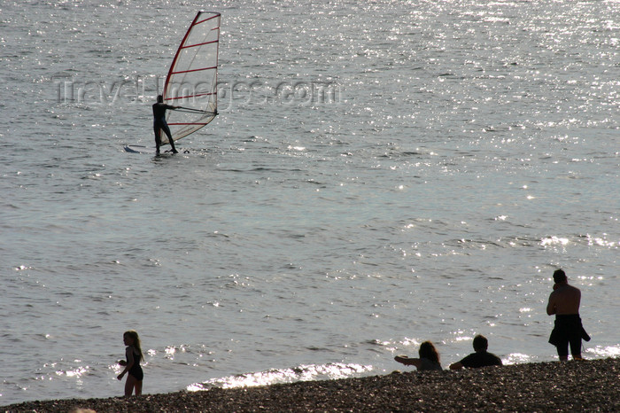 england656: Gosport, Hampshire, South East England, UK: view from the beach with windsurfers in background - photo by I.Middleton - (c) Travel-Images.com - Stock Photography agency - Image Bank