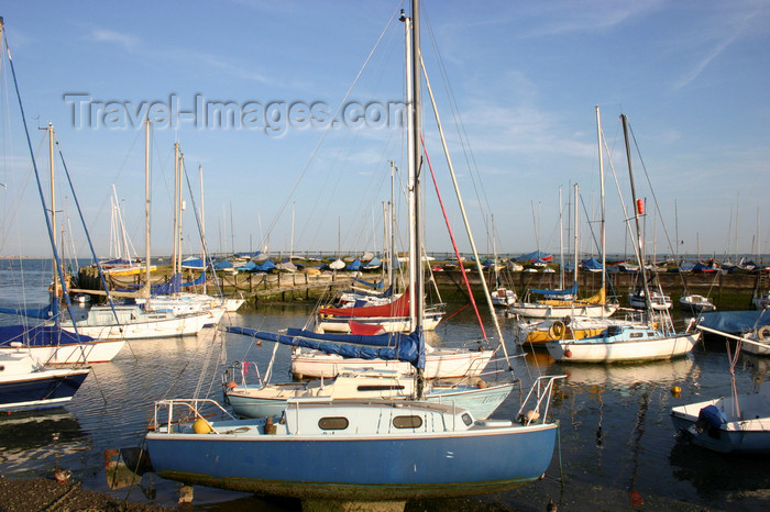 england658: Lee on Solent, Gosport, Hampshire, South East England, UK: boats and pier - Titchfield Haven marina at Hill Head - photo by I.Middleton - (c) Travel-Images.com - Stock Photography agency - Image Bank