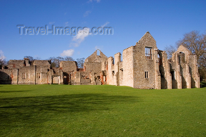 england663: Netley, Hampshire, South East England, UK: Netley Abbey - dedicated to Virgin Mary and Edward the Confessor - photo by I.Middleton - (c) Travel-Images.com - Stock Photography agency - Image Bank