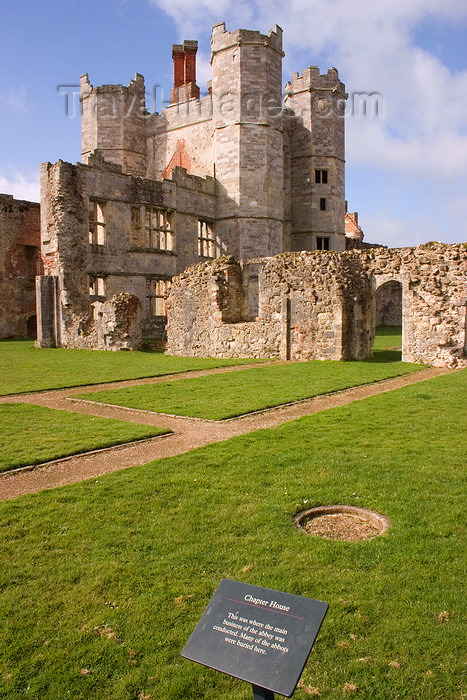 england668: Titchfield, Hampshire, South East England, UK: Titchfield Abbey - Chapter House - many of the abbots were buried here - photo by I.Middleton - (c) Travel-Images.com - Stock Photography agency - Image Bank