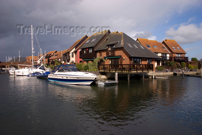 england675: Hythe, New Forest, Hampshire, South East England, UK: boats and house on stilts - Hythe Marina - Solent - photo by I.Middleton - (c) Travel-Images.com - Stock Photography agency - Image Bank