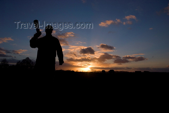 england681: Calshot, Solent, Hampshire, South East England, UK: photographer silhouette at sundown - photo by I.Middleton - (c) Travel-Images.com - Stock Photography agency - Image Bank