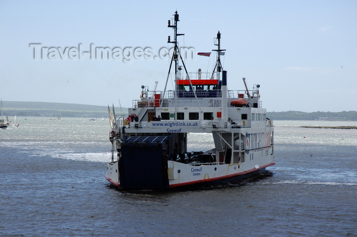 england690: Solent, England, UK: Isle of Wight ferry - Cenwulf - built by Robb Caledon Shipbuilders, Dundee - operated by Wightlink Ferries - photo by T.Marshall - (c) Travel-Images.com - Stock Photography agency - Image Bank