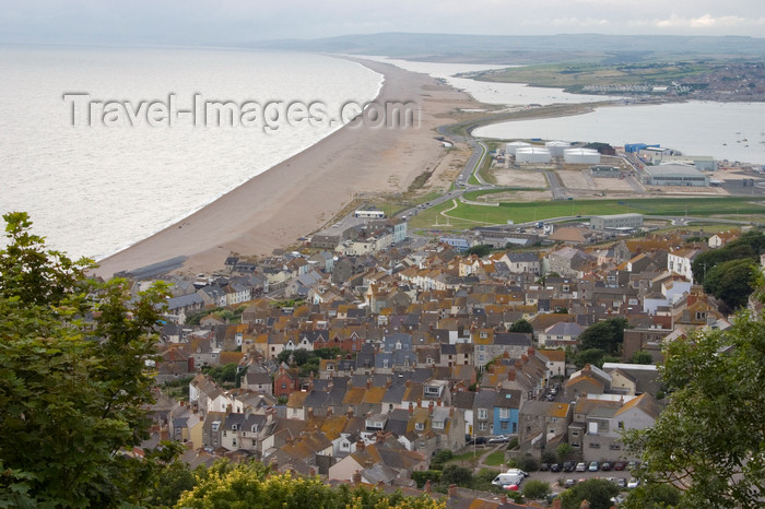 england692: Portland Bill, Dorset, South West England, UK: view of Chesil Beach, a tombolo that connects the Isle of Portland to Weymouth - photo by I.Middleton - (c) Travel-Images.com - Stock Photography agency - Image Bank