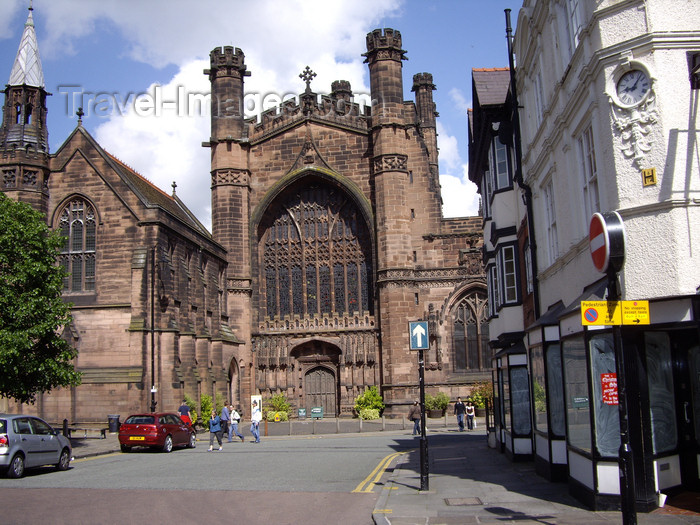 england712: Chester, Cheshire, North West England, UK: Chester Cathedral - dedicated to Christ and the Blessed Virgin Mary - Grade I listed building - photo by T.Brown - (c) Travel-Images.com - Stock Photography agency - Image Bank