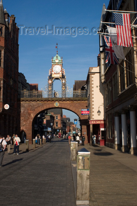 england715: Chester, Cheshire, North West England, UK: Eastgate - photo by I.Middleton - (c) Travel-Images.com - Stock Photography agency - Image Bank