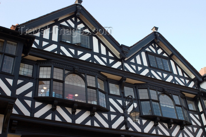 england717: Chester, Cheshire, North West England, UK: gables of old store buildings - photo by I.Middleton - (c) Travel-Images.com - Stock Photography agency - Image Bank