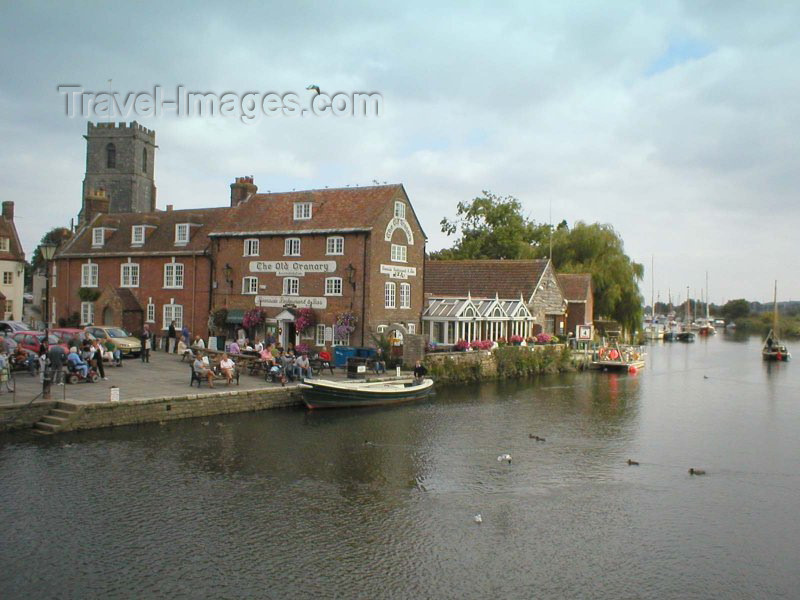 england73: England - Wareham (Dorset County): the quay and the old granary - photo by N.Clark - (c) Travel-Images.com - Stock Photography agency - Image Bank