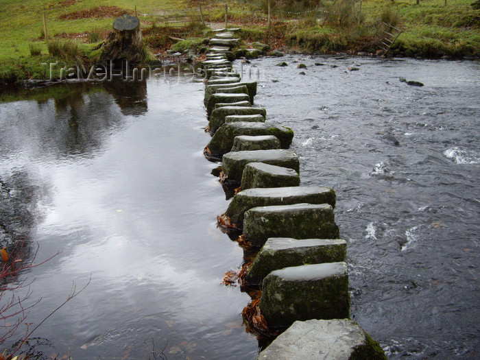 england741: Ambleside, Lake District, Cumbria, North West England, UK: stepping stone bridge - photo by T.Brown - (c) Travel-Images.com - Stock Photography agency - Image Bank