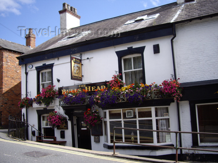 england742: Lymm village, Warrington, Cheshire, North West England, UK: Bull's Head pub - photo by T.Brown - (c) Travel-Images.com - Stock Photography agency - Image Bank
