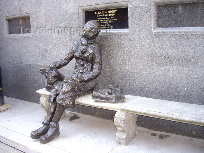 england748: Liverpool, Merseyside, North West England, UK: Eleanor Rigby sculpture by Tommy Steele - Mathew Street - photo by T.Brown - (c) Travel-Images.com - Stock Photography agency - Image Bank