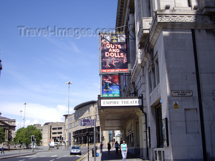 england749: Liverpool, Merseyside, North West England, UK: Empire Theatre - Lime Street - photo by T.Brown - (c) Travel-Images.com - Stock Photography agency - Image Bank