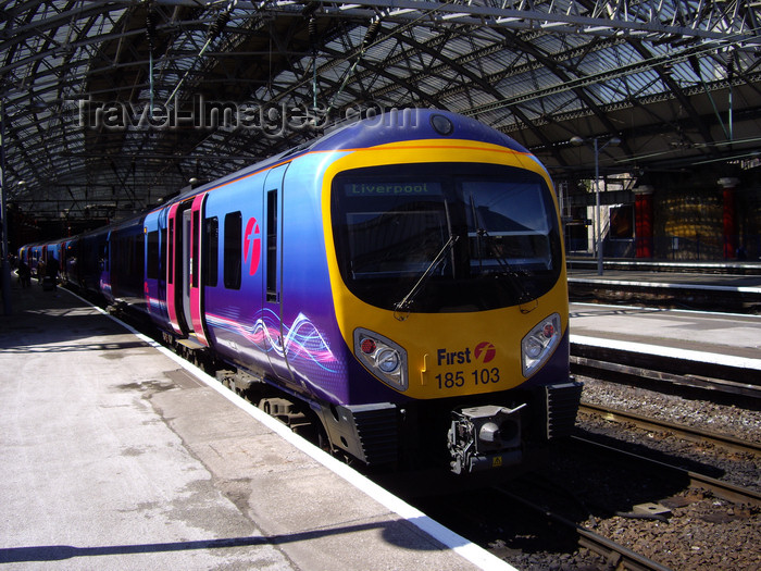 england752: Liverpool, Merseyside, North West England, UK: train at Lime street station - photo by T.Brown - (c) Travel-Images.com - Stock Photography agency - Image Bank