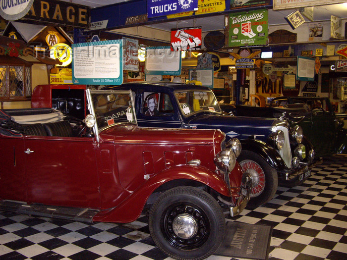 england762: Bourton-on-the-Water, Cotswolds, Gloucestershire, West Midlands, England, UK: cars at Bourton Motor Museum - photo by T.Brown - (c) Travel-Images.com - Stock Photography agency - Image Bank