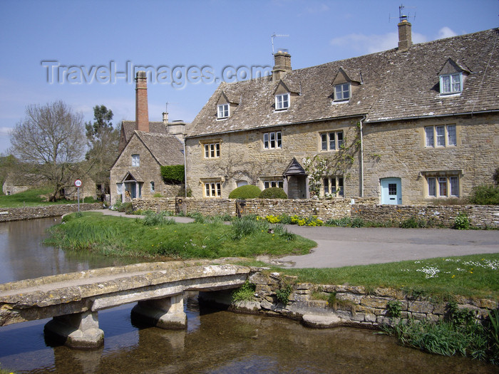 england764: Lower Slaughter, Cotswolds, Gloucestershire, West Midlands, England, UK: brige on the River Eye - photo by T.Brown - (c) Travel-Images.com - Stock Photography agency - Image Bank