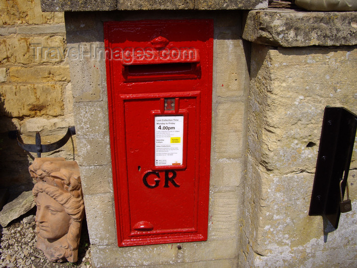 england765: Lower Slaughter, Cotswolds, Gloucestershire, West Midlands, England, UK: Georgian letter box on a Cotswold stone wall - photo by T.Brown - (c) Travel-Images.com - Stock Photography agency - Image Bank
