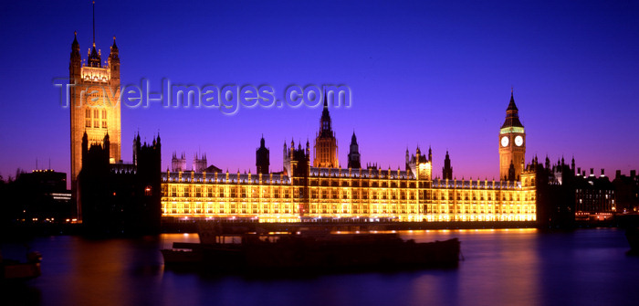 england767: London, England: Houses of Parliament - Westminster Palace - nocturnal - UNESCO World Heritage Site - photo by A.Bartel - (c) Travel-Images.com - Stock Photography agency - Image Bank