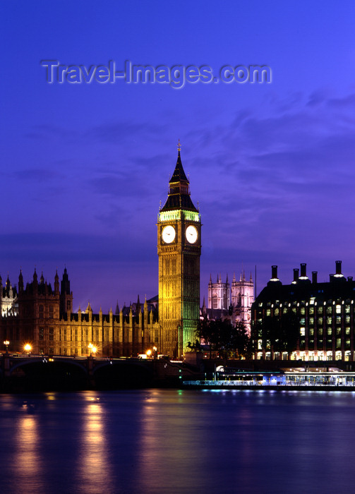 england777: London, England: Big Ben abd the Thames - dusk - photo by A.Bartel - (c) Travel-Images.com - Stock Photography agency - Image Bank