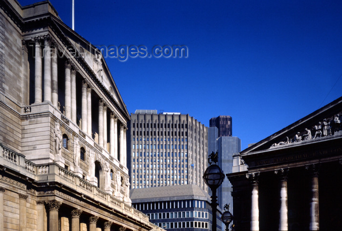 england782: London, England: Bank of England and Royal Exchange - The City - photo by A.Bartel - (c) Travel-Images.com - Stock Photography agency - Image Bank