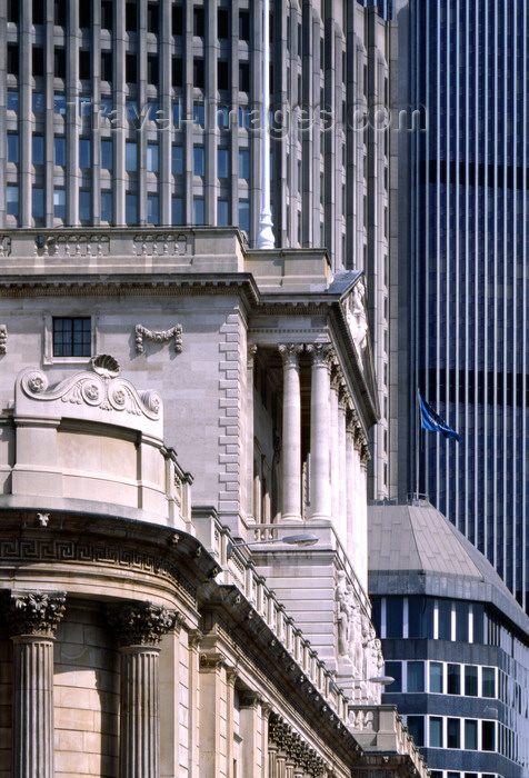 england786: London, England: Bank of England and 125 Old Broad Street, the old Stock Exchange Tower - The City - photo by A.Bartel - (c) Travel-Images.com - Stock Photography agency - Image Bank