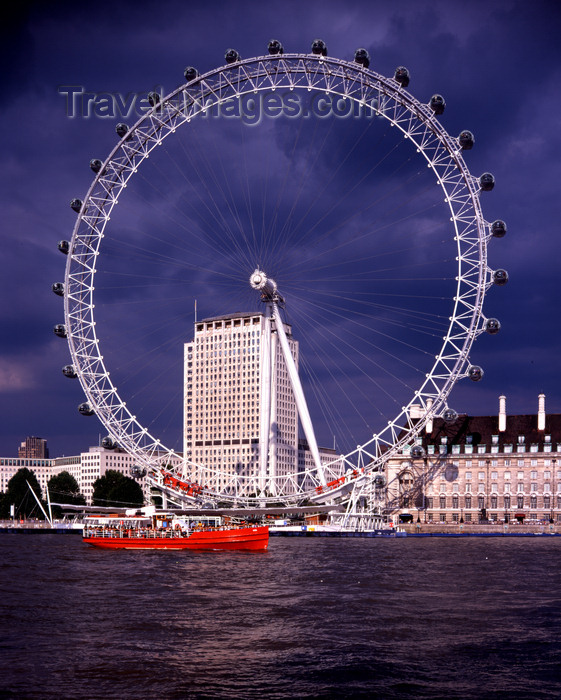 london england the eye millenium wheel owned by the tussauds